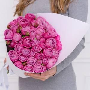 Букет 11 кустовой пионовидной розы R597